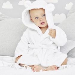 Hydrocotton Baby robe, 0-6 months, white