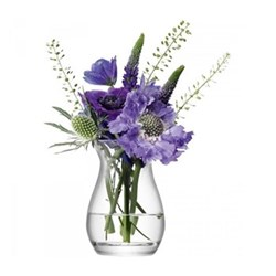 Flower Mini posy vase, 9.5cm, clear
