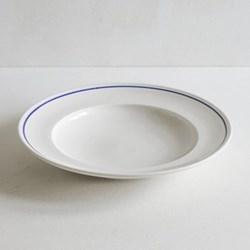 Classic Cobalt Blue Line Shallow bowl, 25cm