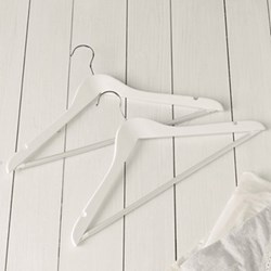 Slimline Universal Set of 6 hangers, white