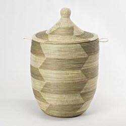 Alibaba Laundry basket, 66 x 38cm, natural/grey