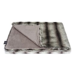 Classic Collection Double throw, 180 x 145cm, grey chinchilla