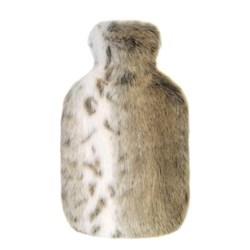Hot water bottle, 23 x 36cm, faux fur - lynx