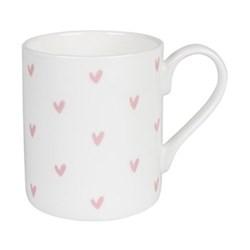 Pink Hearts Mug, 275ml
