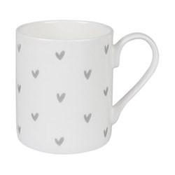 Grey Hearts Mug, 275ml