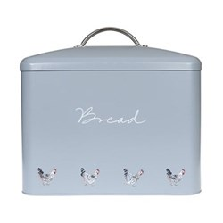 Chicken Bread bin, 34 x 31.5cm, galvanised steel