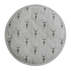 Highland Stag Circular hob cover, 38cm
