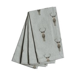 Highland Stag Set of 4 napkins, 41 x 41cm