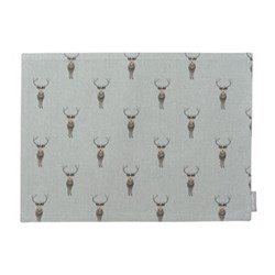 Highland Stag Fabric placemat, 40 x 30cm