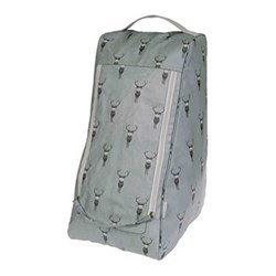 Highland Stag Boot bag, 40 x 35cm, oilcloth