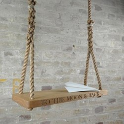 Personalised medium swing, 60 x 25 x 3.5cm, oak