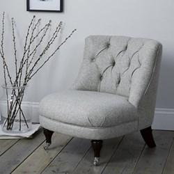Richmond Tub chair, H74 x W64 x L72cm, dark stained beech leg