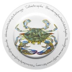 Blue Crab Flat rimmed plate, 30cm