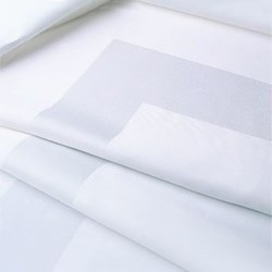 Satin Band Tablecloth, 183 x 320cm, off white double damask
