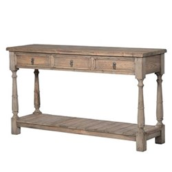 Pastoral Hall table, 90 x 160 x 45cm, reclaimed pine