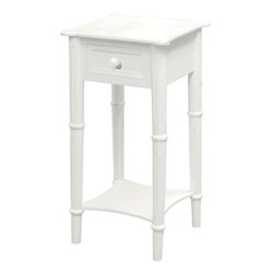 Porchen Bedside table with drawer, 70 x 36 x 36cm, white