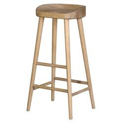 Farmhouse stool, 82 x 42 x 36cm, weathered oak