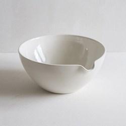 Mixing bowl, pouring, 25cm, half glazed porcelain