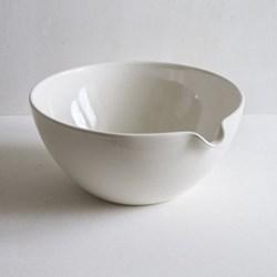 Mixing bowl, pouring, 30cm, half glazed porcelain
