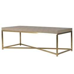 Coffee table, 42.5 x 60 x 120cm, faux shagreen leather