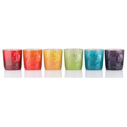 Stoneware Set of 6 mugs, 350ml, rainbow