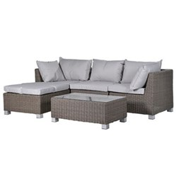 Hartwell Outdoor living set, sofa - 87 x 242 x 158cm / table - 38 x 100 x 59cm