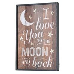 To The Moon Lit plaque, 61 x 41cm