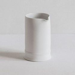 Classic Tea tray milk jug, half glazed porcelain