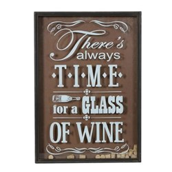 Time for Wine Wall sign with cork deposit, 65 x 46 x 80cm
