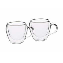 Le'Xpress Pair of teacups, 230ml, double-walled glass