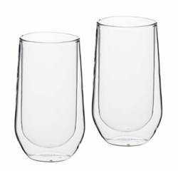 Le'Xpress Pair of highball glasses, 380ml, double-walled glass