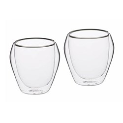 Le'Xpress Pair of tumblers, 250ml, double-walled glass
