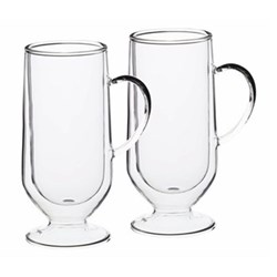 Le'Xpress Pair of latte glasses, 325ml, double-walled glass