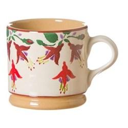 Fuchsia Set of 4 small mugs, H7cm