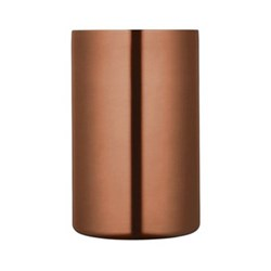 Wine cooler, double walled copper finish