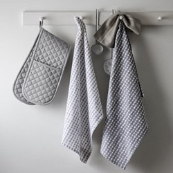 Pair of tea towels, 50 x 70cm, heart print