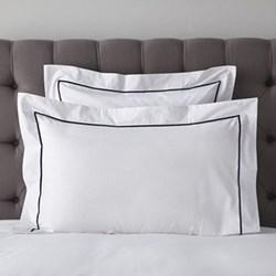 Savoy - 400 Thread Count Oxford pillowcase, 50 x 75cm, navy