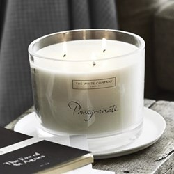 Pomegranate Large 3 wick candle, H9.5 x W14 x L14cm