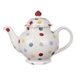 Polka Dot Teapot, 4 mug