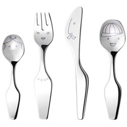 Alfredo - The Twist Family 4 piece cutlery set, stainless steel