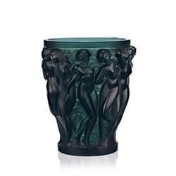 Bacchantes Small vase, H14.6 x D12.3cm, green