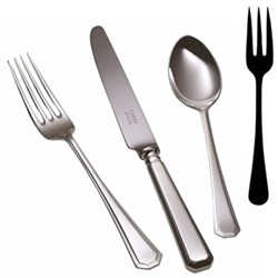 Grecian Large serving fork, silver plate