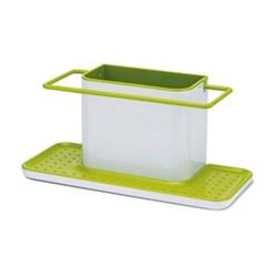 Caddy sink organiser, large, white/green