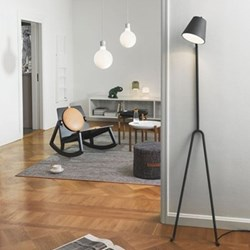 Manana Floor lamp, 40 x 20 x 170cm, dark grey