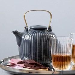 Hammershoi Teapot, H15 x W14.5cm - 1.2 litre, anthracite