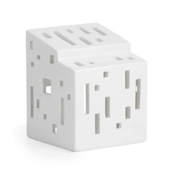 Urbania - Functio Lighthouse candle holder, H9 x W7cm, white