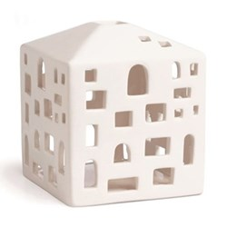 Urbania - Byhus Lighthouse candle holder, H10.5 x W9cm, white
