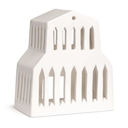 Urbania - Basilika Lighthouse candle holder, H15 x W13cm, white