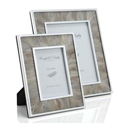 "Feather and Glass Photograph frame, 7 x 5"", duck"