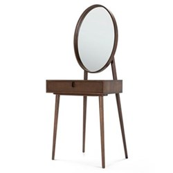 Penn Dressing table, H144 x W65 x D41cm, dark stain ash veneer